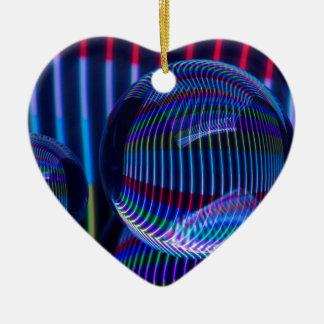 Ornement Cœur En Céramique Trois boules pleines