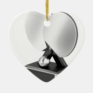 Ornement Cœur En Céramique Trophée argenté de ping-pong