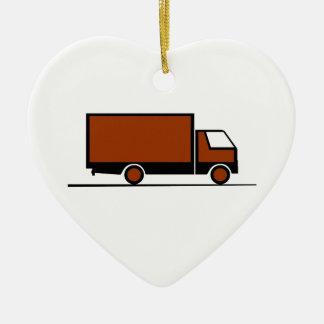 Ornement Cœur En Céramique Truck - Camion (04)