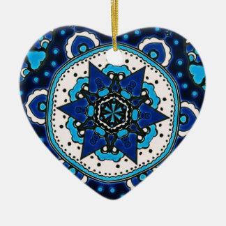 Ornement Cœur En Céramique Tuile ARABE vintage Iznik, Turquie, XVIème siècle