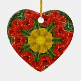 Ornement Cœur En Céramique tulipsmandala