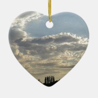 Ornement Cœur En Céramique Un bon nombre de nuages