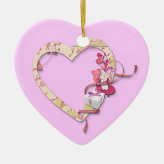 Ornement Cœur En Céramique Un cadeau pour Valentine -