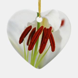 Ornement Cœur En Céramique Un chuchotement du rouge