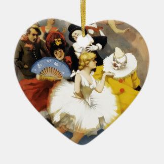 Ornement Cœur En Céramique Un cirque des danseurs