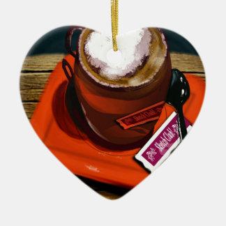 Ornement Cœur En Céramique Une tasse de café