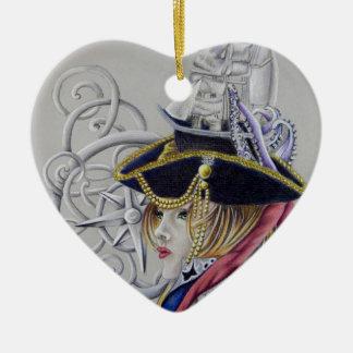 Ornement Cœur En Céramique Une vie de pirates