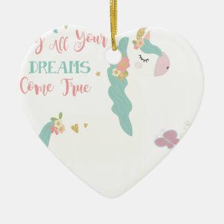 Ornement Cœur En Céramique unicorn2sue