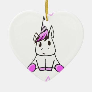 Ornement Cœur En Céramique unicorn9