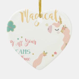 Ornement Cœur En Céramique unicornsue3