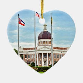 Ornement Cœur En Céramique Université du Mississippi du sud