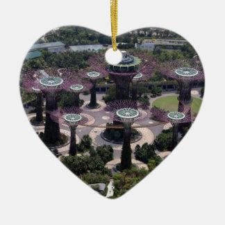 Ornement Cœur En Céramique Verger de Supertree, Singapour