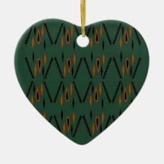 Ornement Cœur En Céramique Vert d'éléments de conception