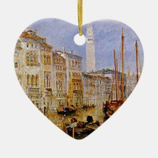 Ornement Cœur En Céramique vieille ville Venise