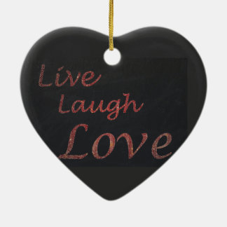 Ornement Cœur En Céramique Vivent l'amour de rire