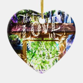 Ornement Cœur En Céramique Voie d'arc-en-ciel à celle qui nous aiment