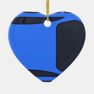 Ornement Cœur En Céramique Voiture de sport bleu-foncé
