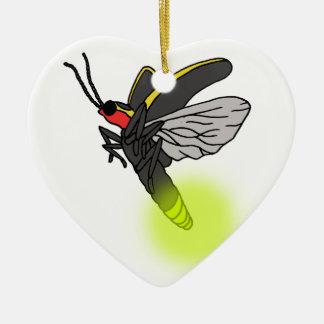 Ornement Cœur En Céramique vol 2 d'insecte de foudre allumé