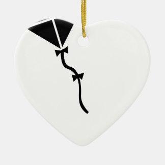Ornement Cœur En Céramique Vol de cerf-volant