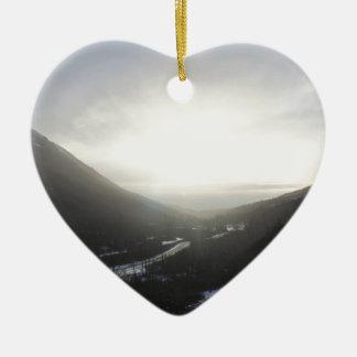 Ornement Cœur En Céramique Vue Alaska de passage de Hatcher
