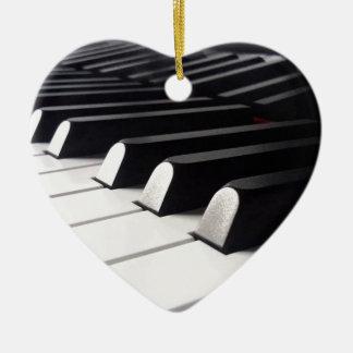 Ornement Cœur En Céramique Vue de piano
