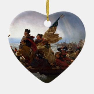 Ornement Cœur En Céramique Washington art de cru croisant Delaware - USA
