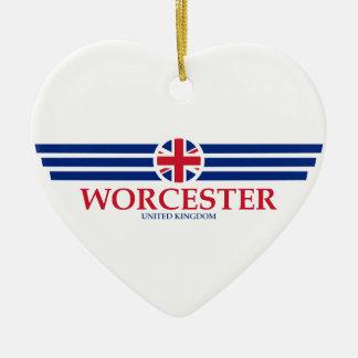 Ornement Cœur En Céramique Worcester