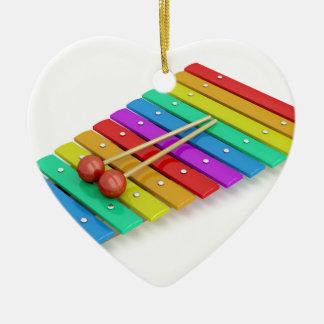 Ornement Cœur En Céramique Xylophone coloré