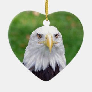 Ornement Cœur En Céramique Yeux d'Eagle chauve