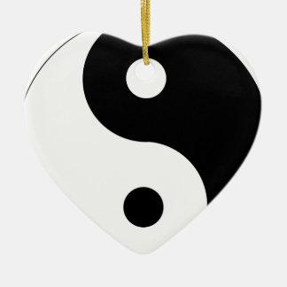 Ornement Cœur En Céramique yin-Yang