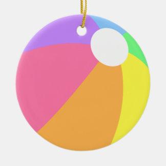Ornement coloré de cercle de ballon de plage d'été