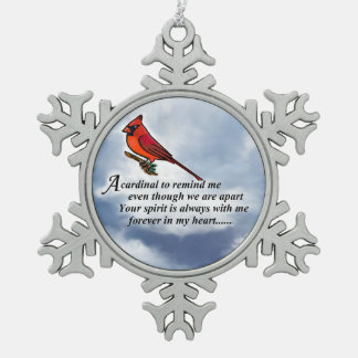 Ornement commémoratif cardinal en métal de poème