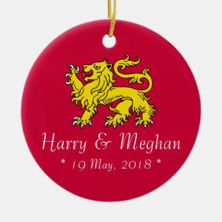Ornement commémoratif de Harry et de mariage de