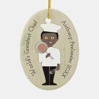 Ornement culinaire de Noël d'Afro-américain de