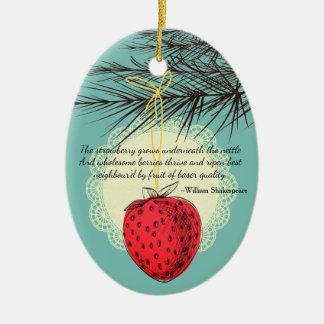Ornement culinaire de Noël de fruit de fraise
