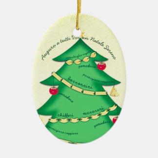Ornement culinaire de Noël de pâtes italiennes de