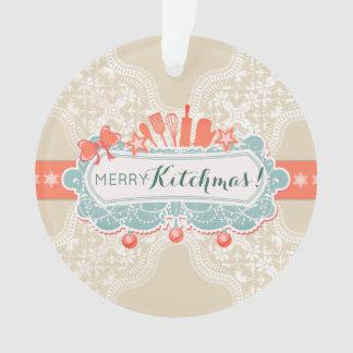 Ornement culinaire de Noël d'ustensiles de