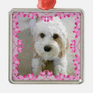 Ornement customisé de photo de Cavachon, chien