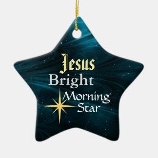 Ornement customisé d'étoile de matin de Jésus