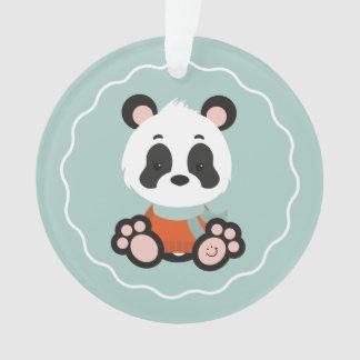 Ornement d'acrylique de panda de sourire