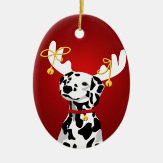Ornement dalmatien de cerfs communs de Noël de