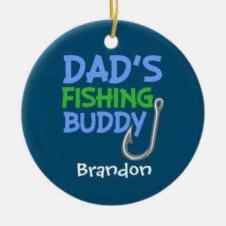 Ornement d'ami de la pêche du papa nommé fait sur