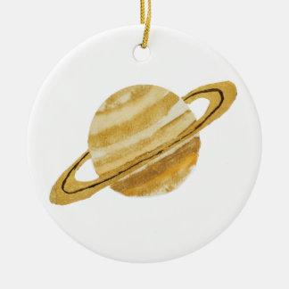 Ornement d'aquarelle de planète de Saturn