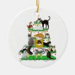 Ornement d'arbre de chat de Noël