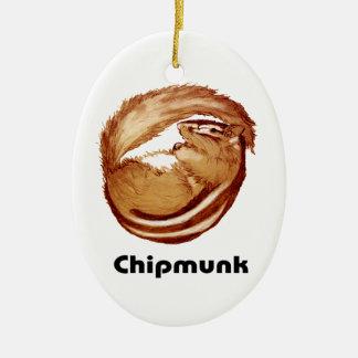 Ornement d'arbre de Chipmunk_Christmas