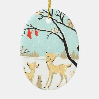 Ornement d'arbre de créatures de Noël