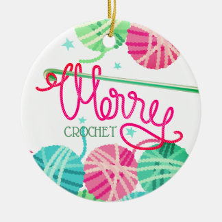 Ornement d'arbre de fil de Joyeux Noël de crochet