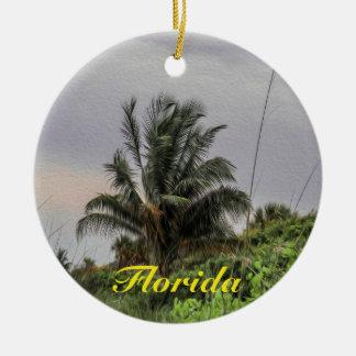 Ornement d'arbre de la Floride de palmier