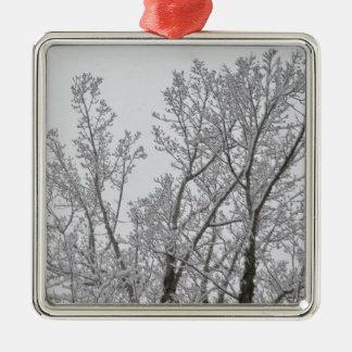 Ornement d'arbre de neige