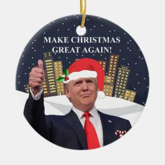 Ornement d'arbre de Noël de Donald Trump